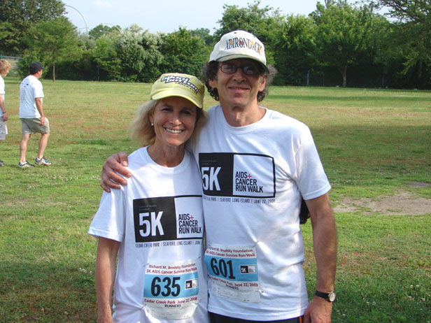 Jodi and Richard at the 5k AIDS Cancer Run Walk